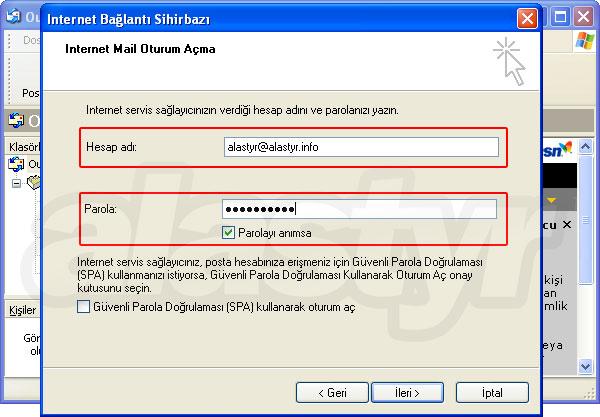 Outlook Express E-mail Ayarları