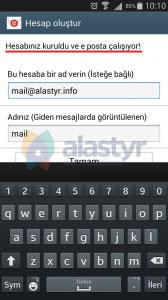 android mail ayarları