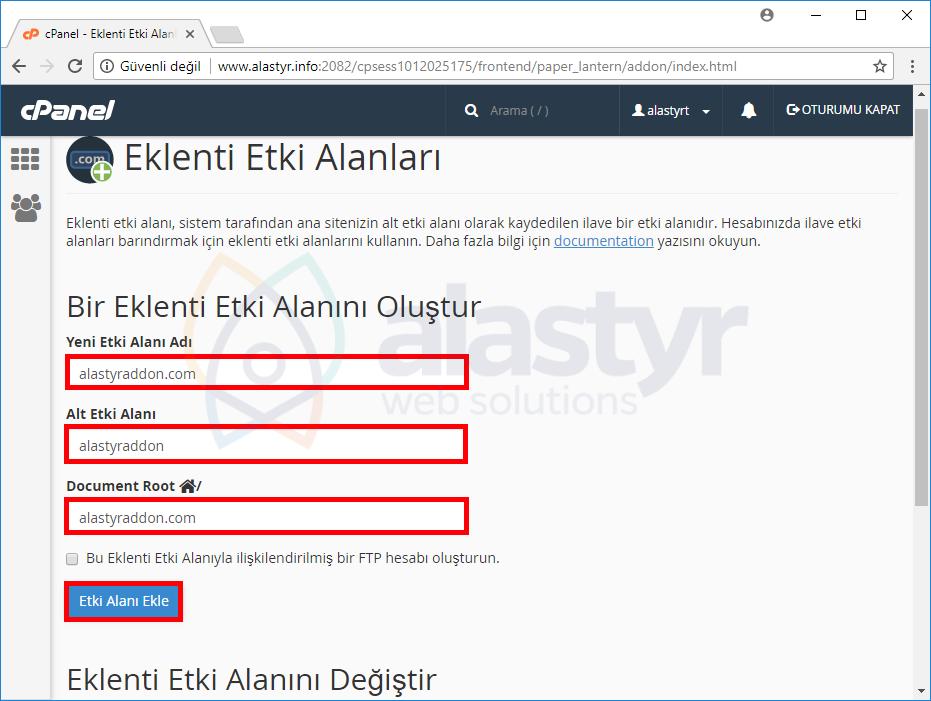 addon domain nasıl oluşturulur (2)