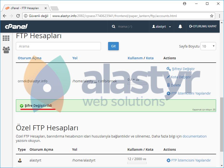 FTP hesabı şifresi nasıl değiştirilir (4)