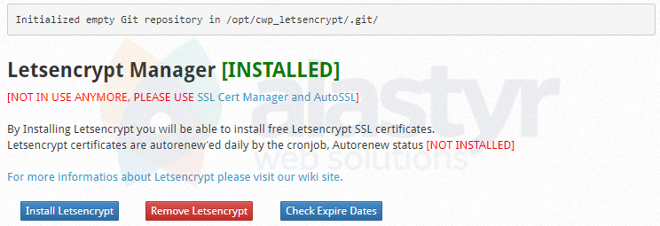 CWP Ücretsiz SSL Kurulumu (2)