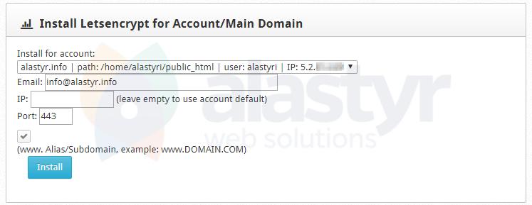 CWP Ücretsiz SSL Kurulumu (3)