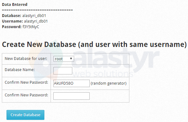 CWP MySQL Veritabani Olusturma (4)