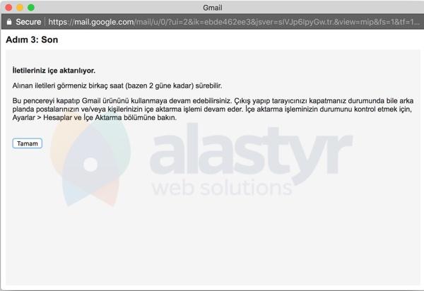 E-Posta Hesabını Gmaile Yönlendirme - 7