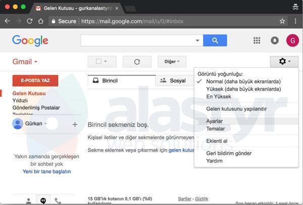 E-Posta Hesabını Gmaile Yönlendirme - 1