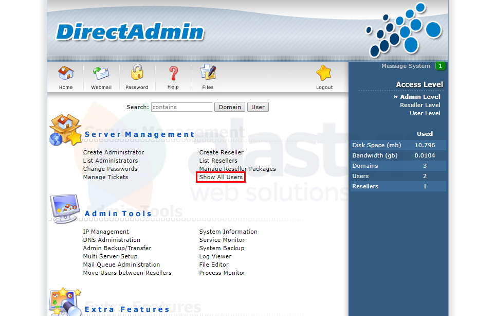 DirectAdmin Hesap Silme (1)