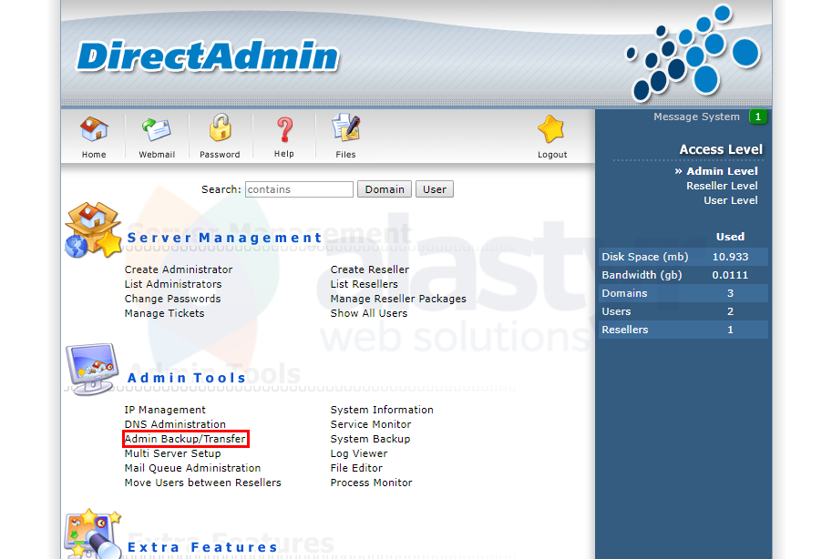 DirectAdmin Yedek Alma (Admin Level) (1)