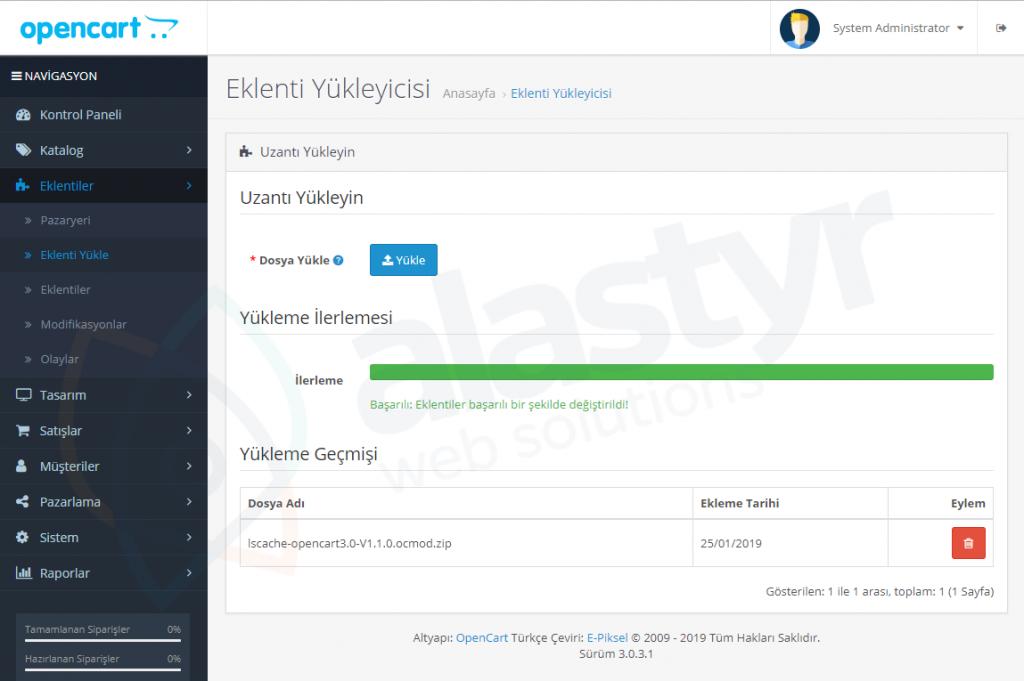 OpenCart LiteSpeed Cache Eklentisi-2