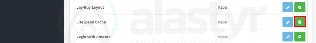 OpenCart LiteSpeed Cache Eklentisi-4