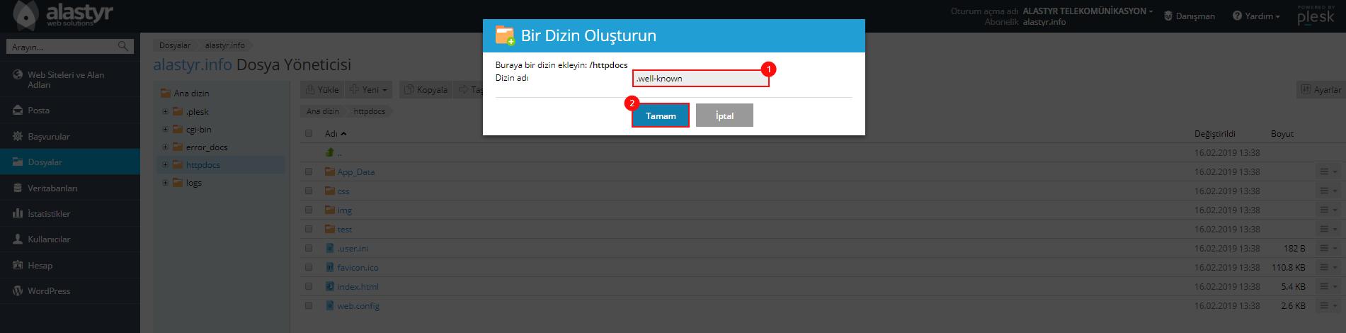 Plesk SSL Dosya Yoneticisi (2)