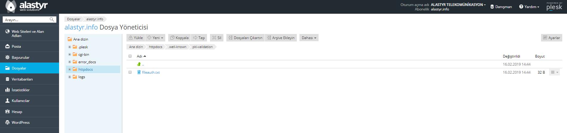 Plesk SSL Dosya Yoneticisi (4)