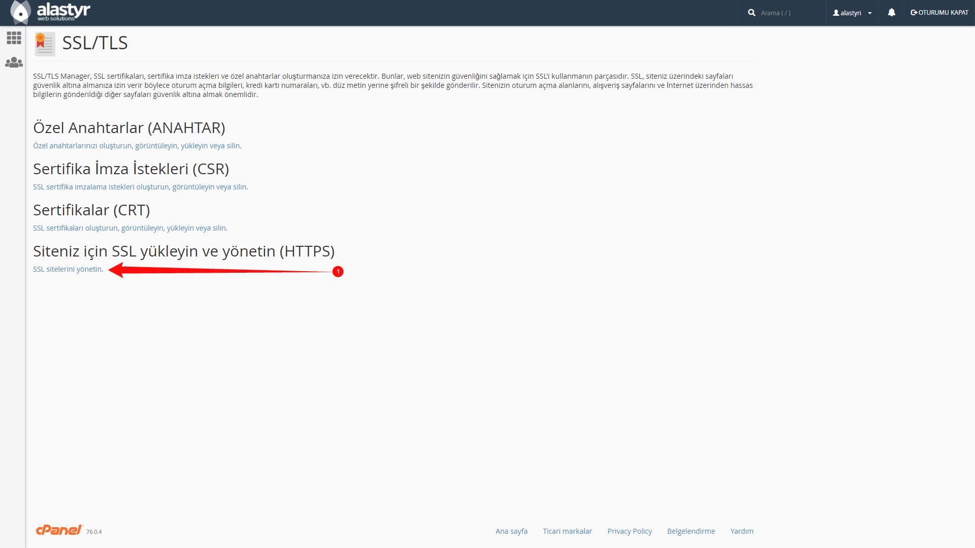 SSL Sertifikası Indirme ve Yukleme (3)