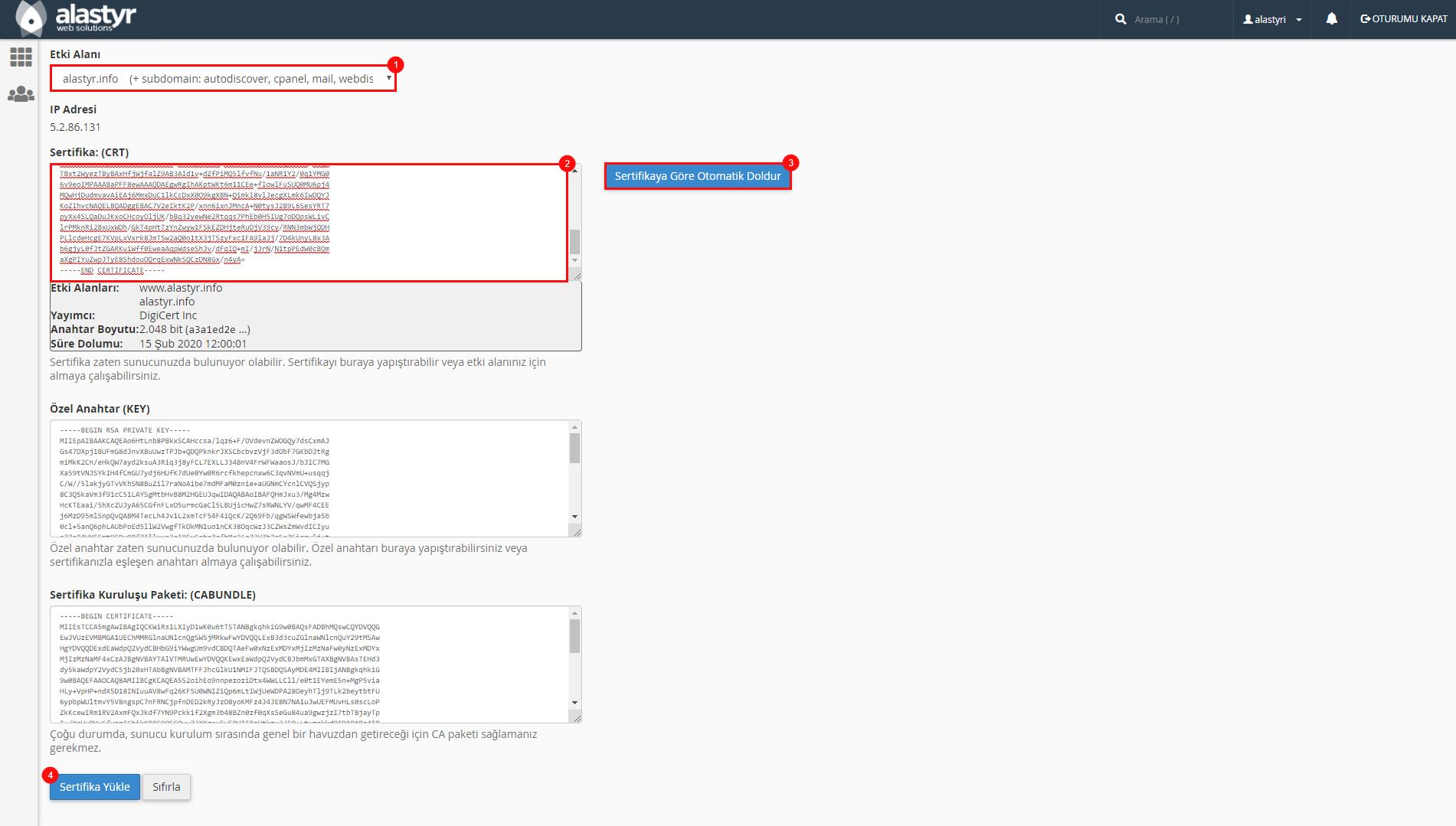 SSL Sertifikası Indirme ve Yukleme (4)