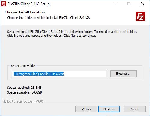 FileZilla Yükleme Ekranı
