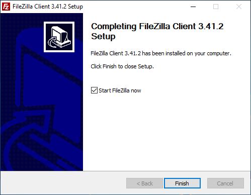 FileZilla Çalıştırma Ekranı
