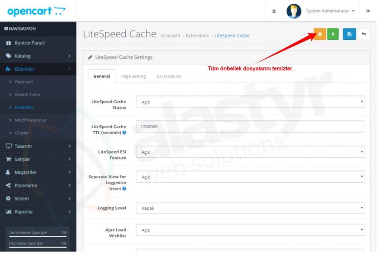 LiteSpeed Cache ile Daha Hızlı OpenCart - Alastyr Blog