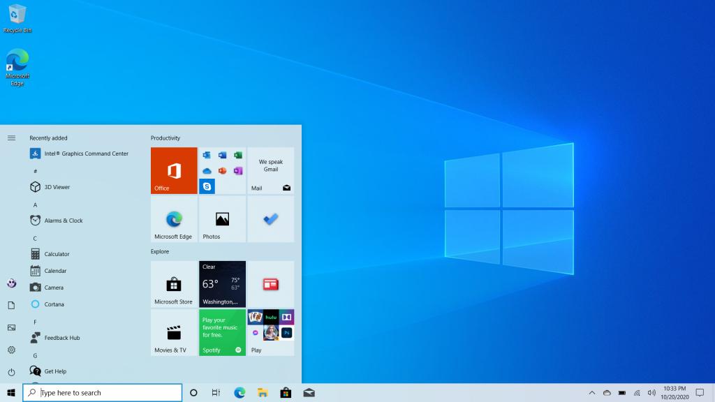Windows 10 yeni görev çubuğu
