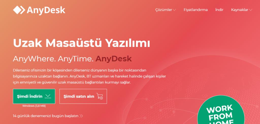 AnyDesk Uzaktan Bağlantı Programı