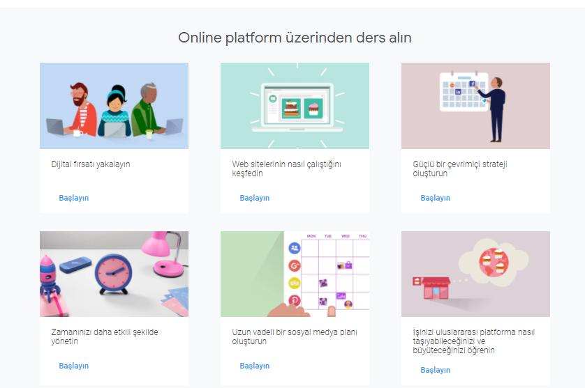 google dijital eğitimler