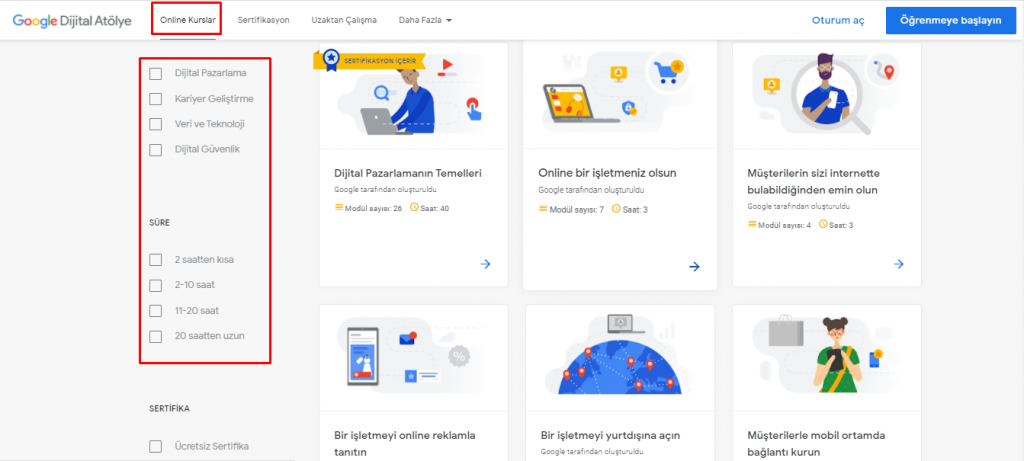 google dijital atölye eğitimleri